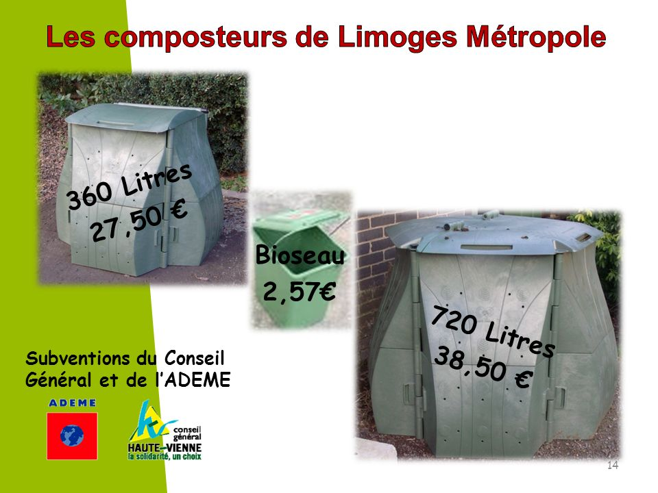 Les composteurs de Limoges Métropole