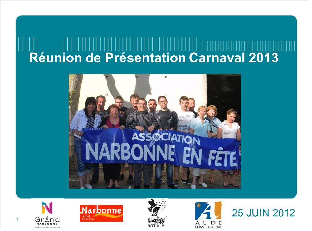 Réunion de Présentation Carnaval 2013