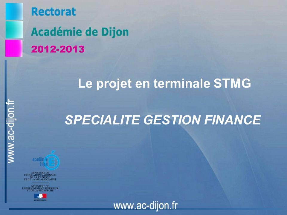 Le projet en terminale STMG