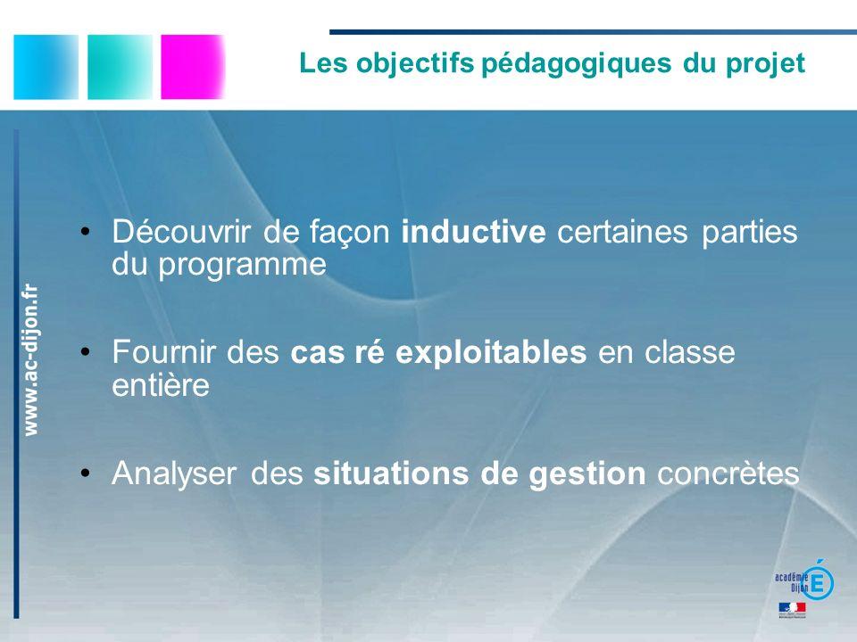 Les objectifs pédagogiques du projet