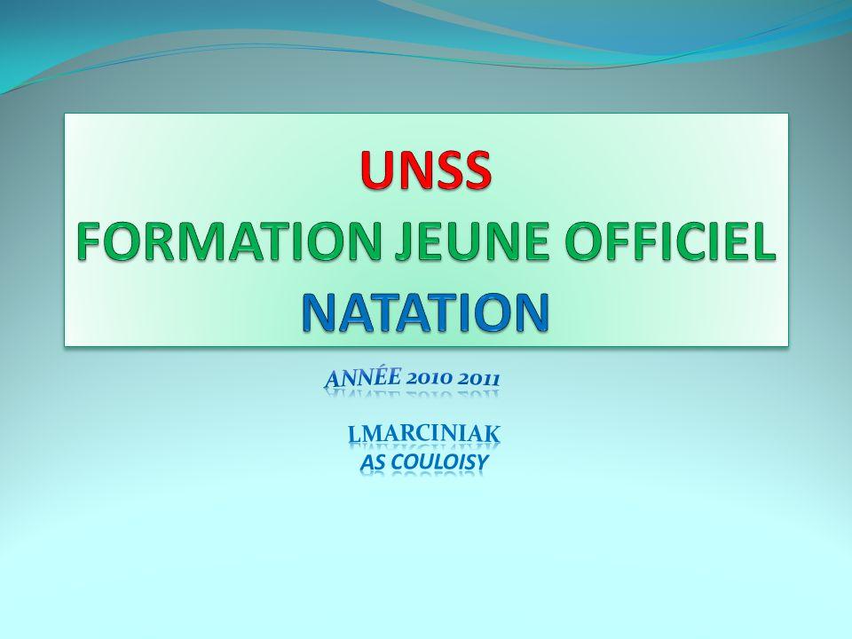 UNSS FORMATION JEUNE OFFICIEL NATATION