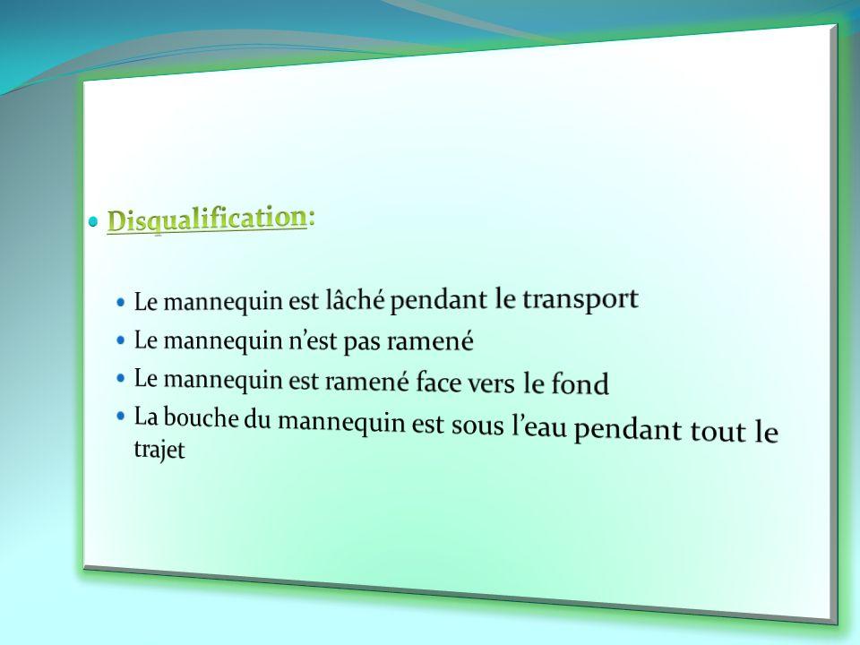 Disqualification: Le mannequin est lâché pendant le transport