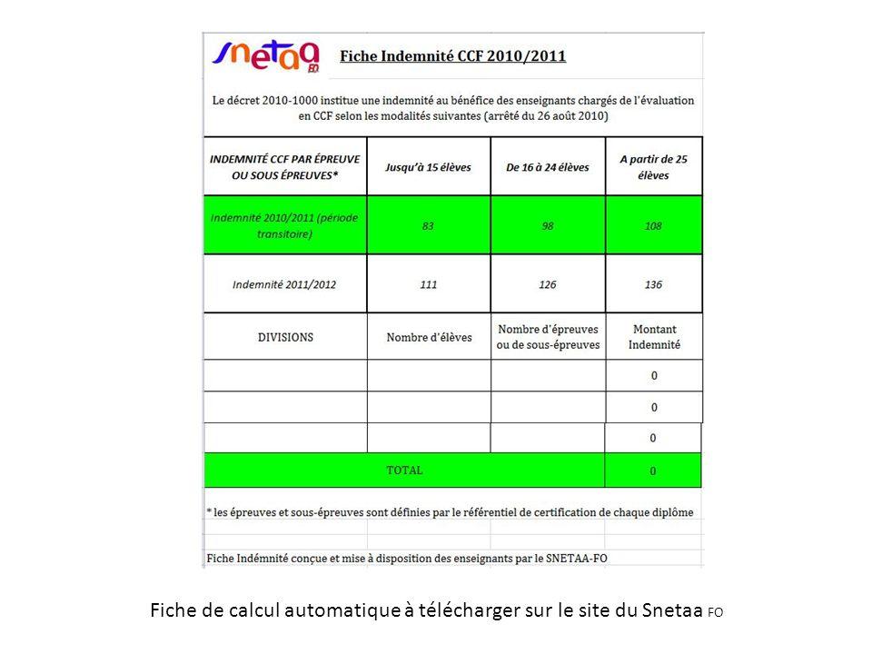 Fiche de calcul automatique à télécharger sur le site du Snetaa FO