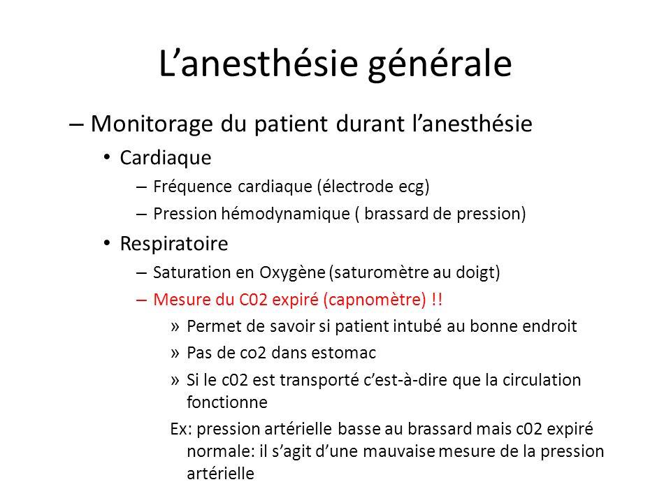 L'anesthésie générale