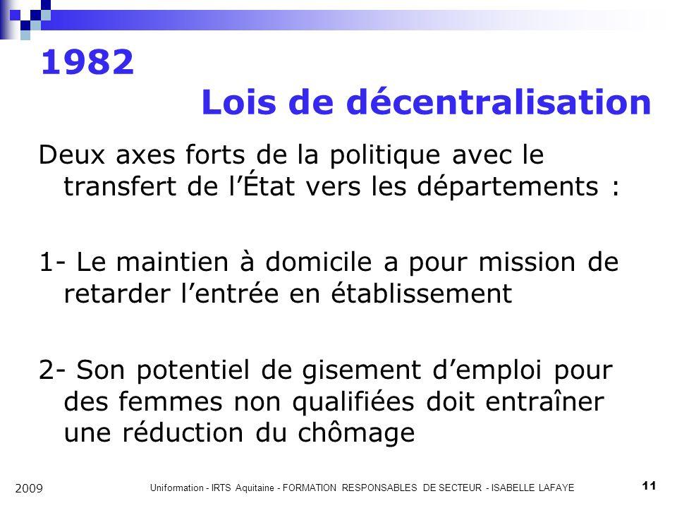1982 Lois de décentralisation