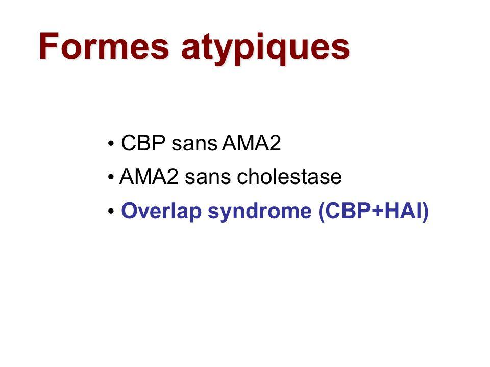 Formes atypiques CBP sans AMA2 AMA2 sans cholestase