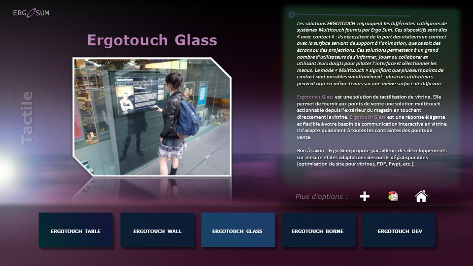 Ergotouch Glass Tactile