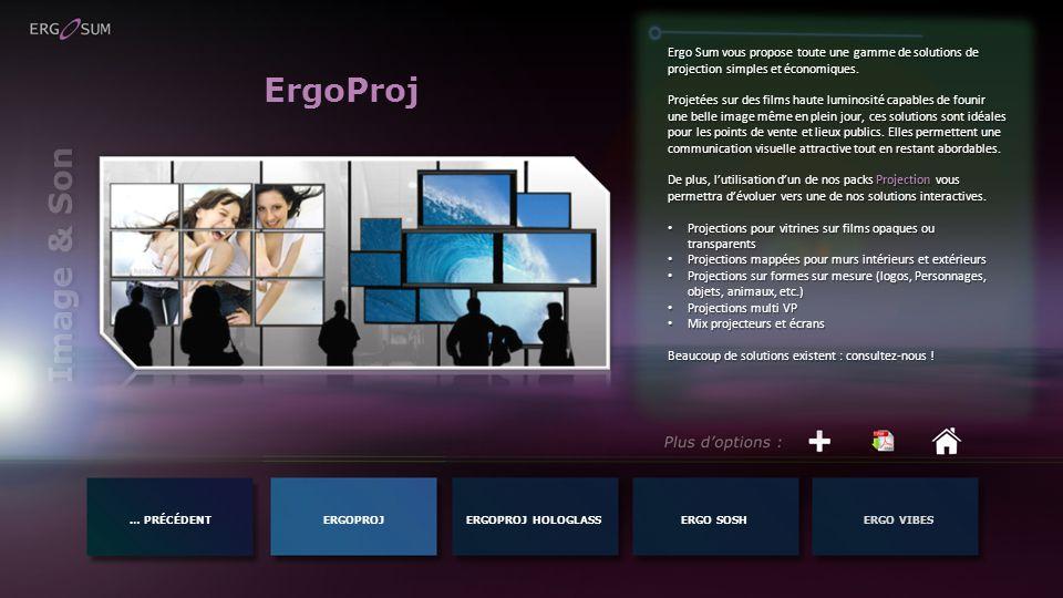 Ergo Sum vous propose toute une gamme de solutions de projection simples et économiques.