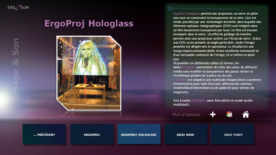 ErgoProj Hologlass Image & Son