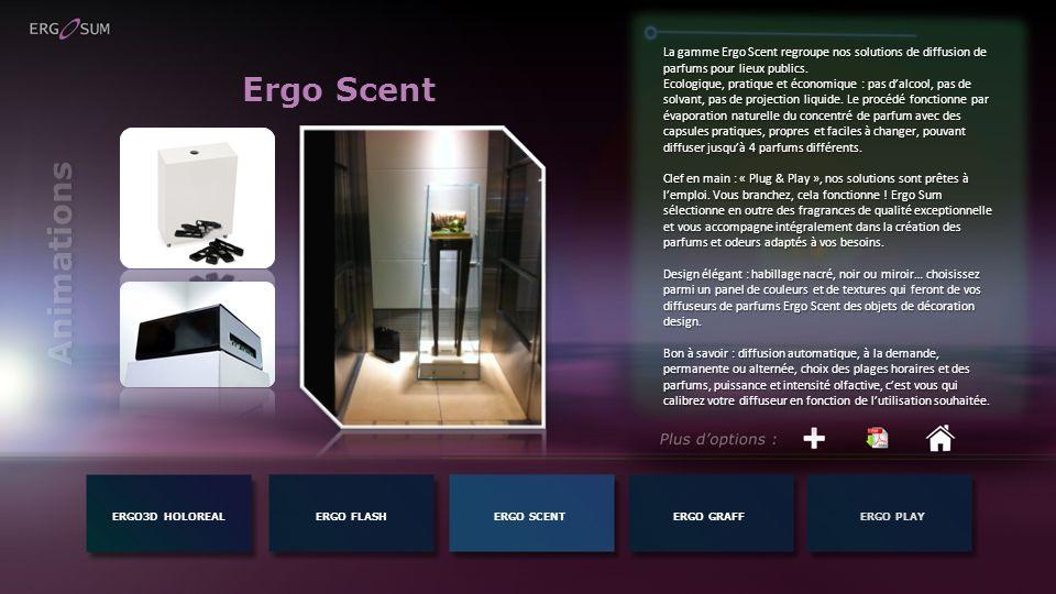La gamme Ergo Scent regroupe nos solutions de diffusion de parfums pour lieux publics.