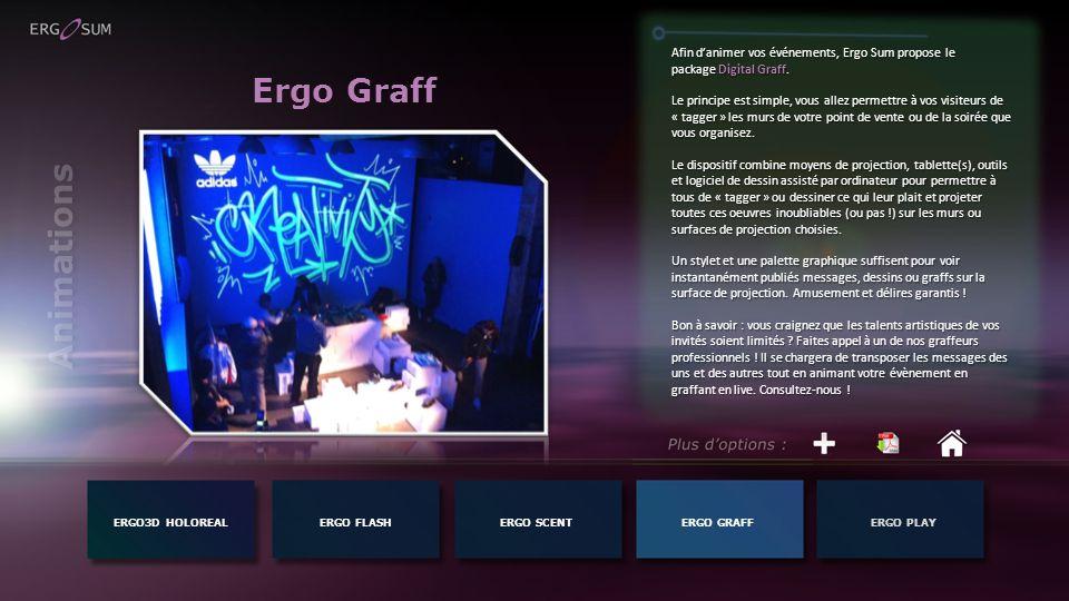 Afin d'animer vos événements, Ergo Sum propose le package Digital Graff.