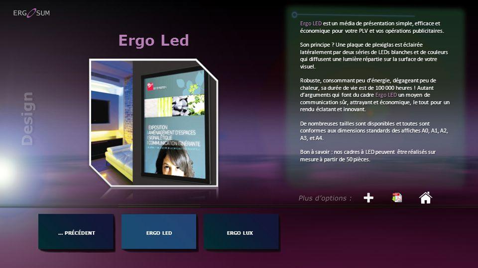 Ergo LED est un média de présentation simple, efficace et économique pour votre PLV et vos opérations publicitaires.