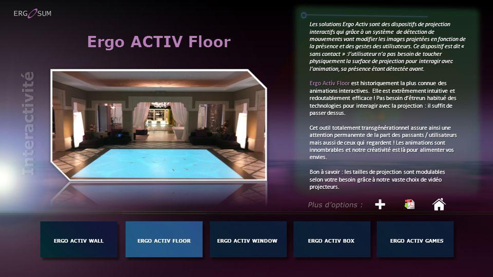Ergo ACTIV Floor Interactivité