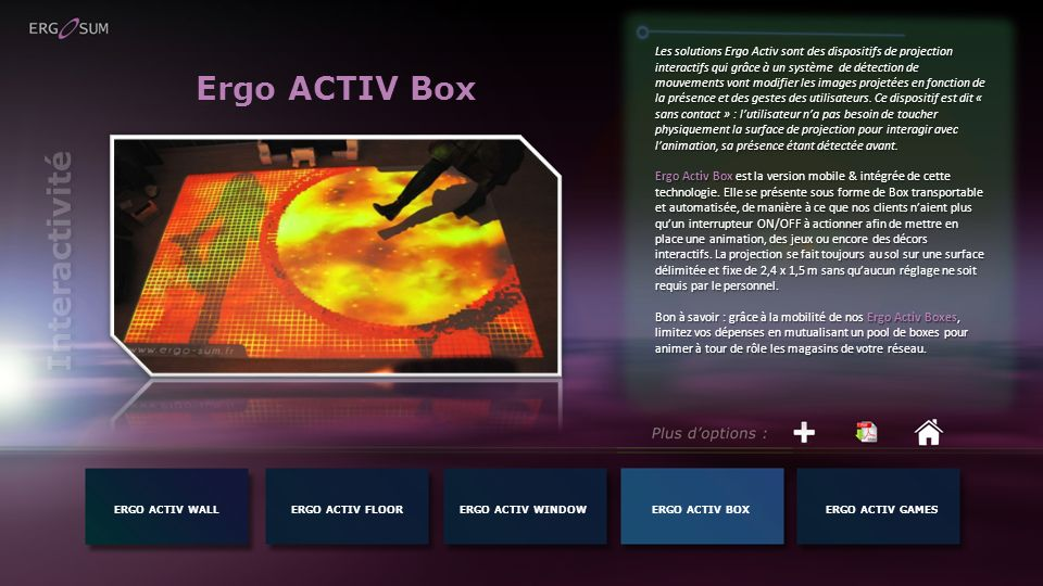 Ergo ACTIV Box Interactivité