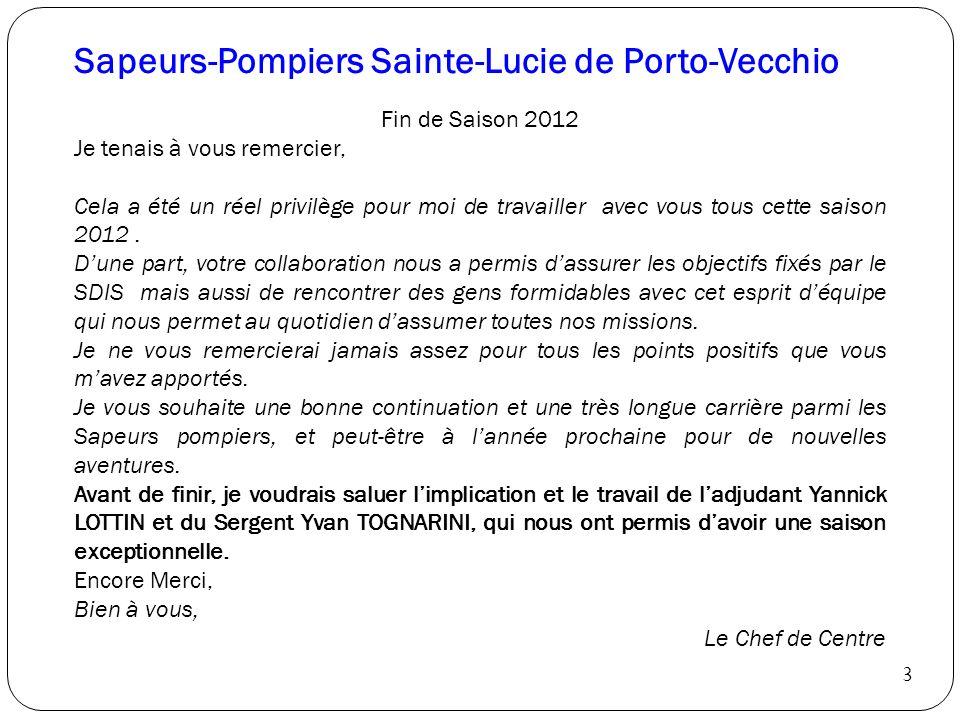 Sapeurs-Pompiers Sainte-Lucie de Porto-Vecchio