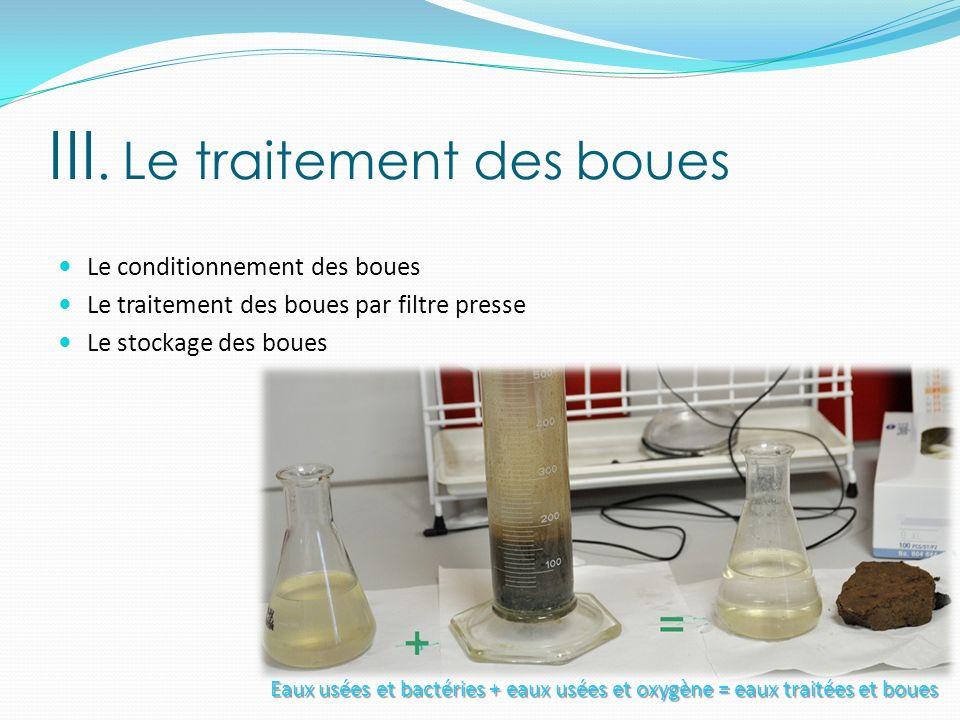 III. Le traitement des boues