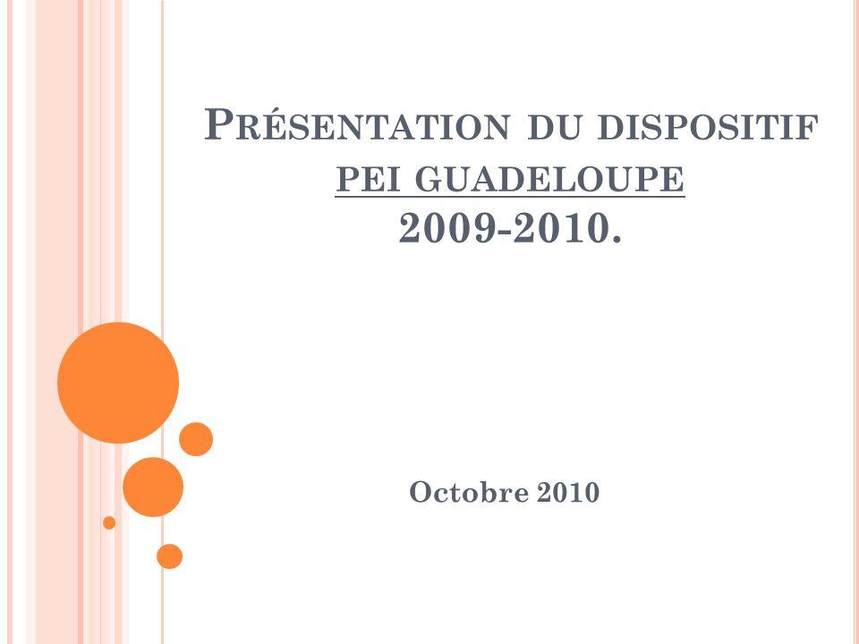 Présentation du dispositif pei guadeloupe 2009-2010.