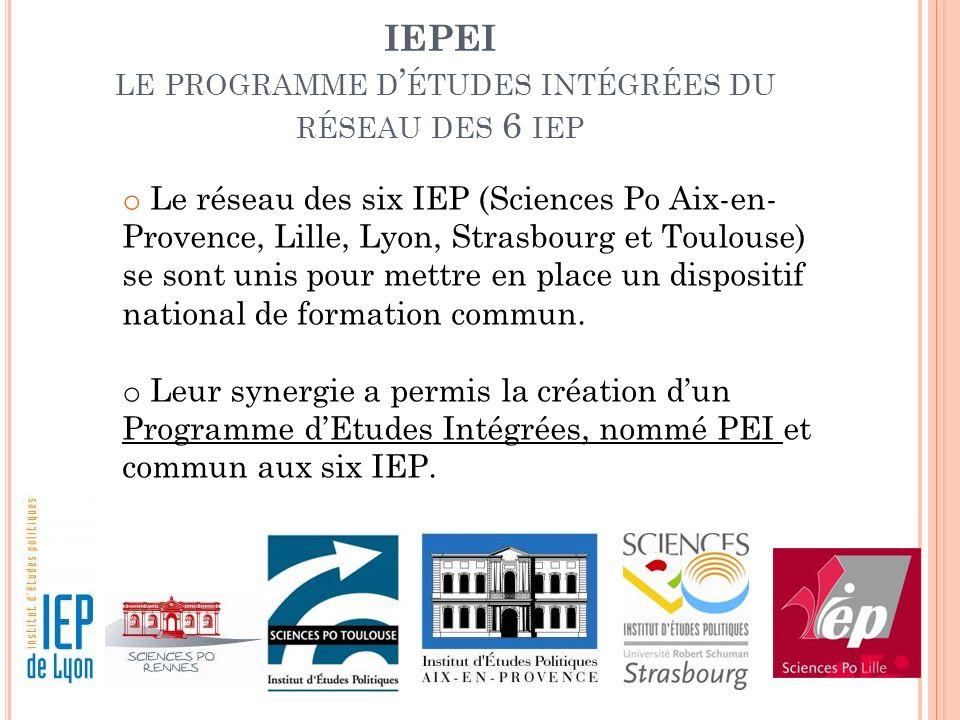 IEPEI le programme d'études intégrées du réseau des 6 iep
