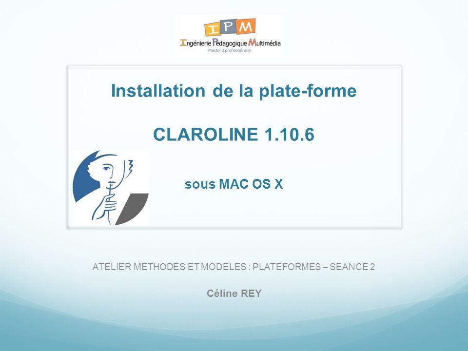 Installation de la plate-forme CLAROLINE 1.10.6 sous MAC OS X
