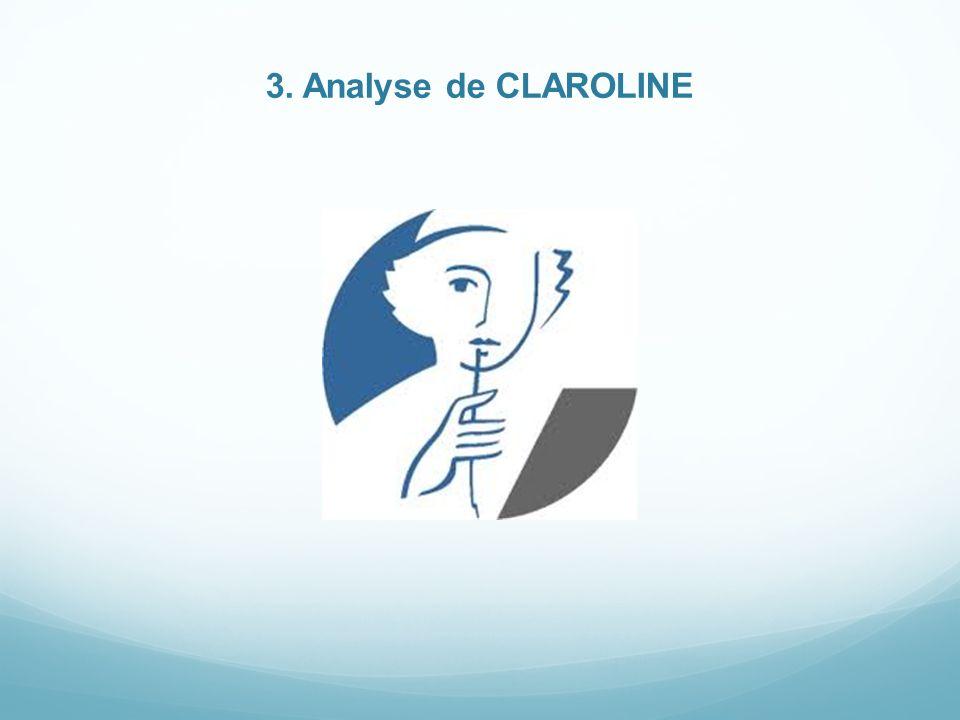 3. Analyse de CLAROLINE