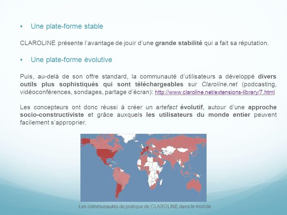 Les communautés de pratique de CLAROLINE dans le monde