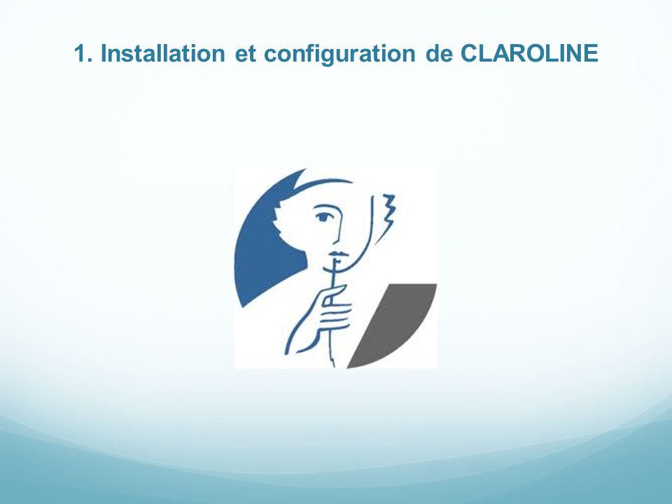 1. Installation et configuration de CLAROLINE