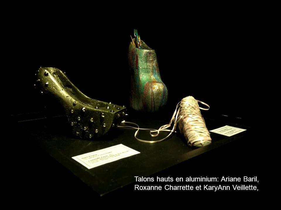 Talons hauts en aluminium: Ariane Baril, Roxanne Charrette et KaryAnn Veillette,