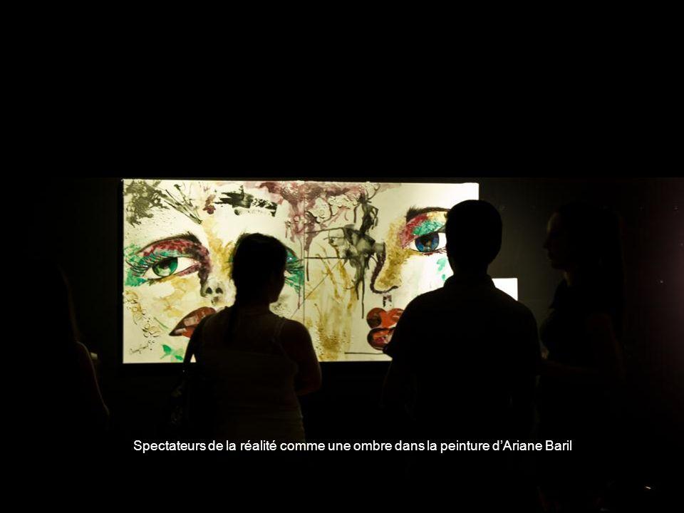 Spectateurs de la réalité comme une ombre dans la peinture d'Ariane Baril