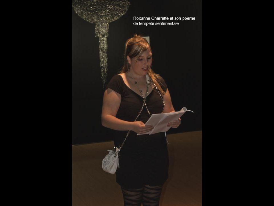 Roxanne Charrette et son poème de tempête sentimentale