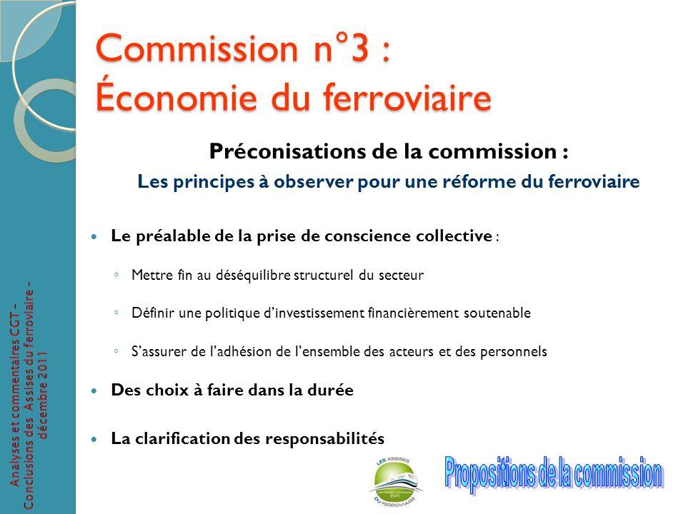 Commission n°3 : Économie du ferroviaire