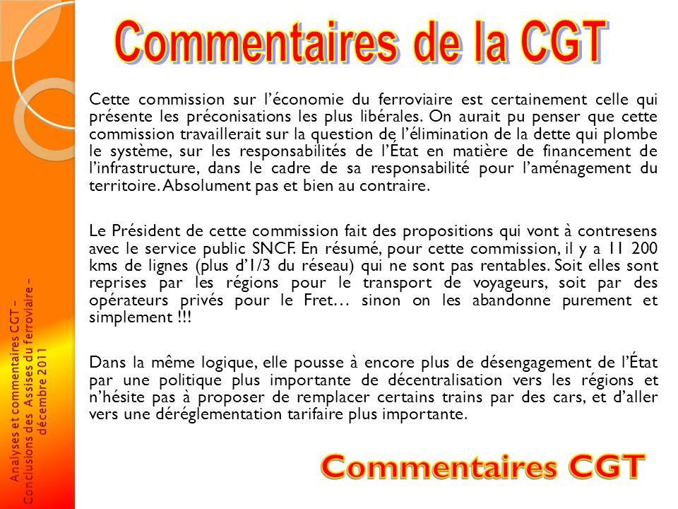 Commentaires de la CGT
