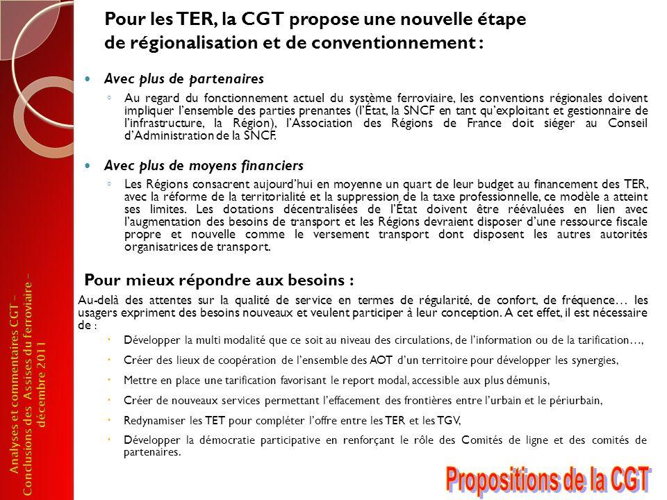 Pour les TER, la CGT propose une nouvelle étape