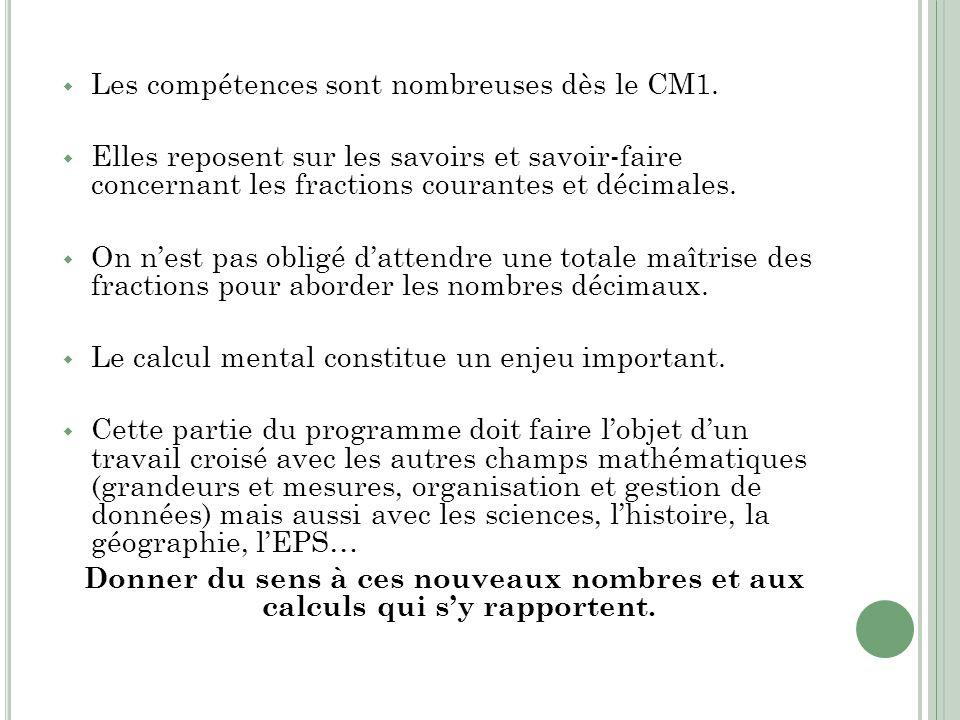Les compétences sont nombreuses dès le CM1.