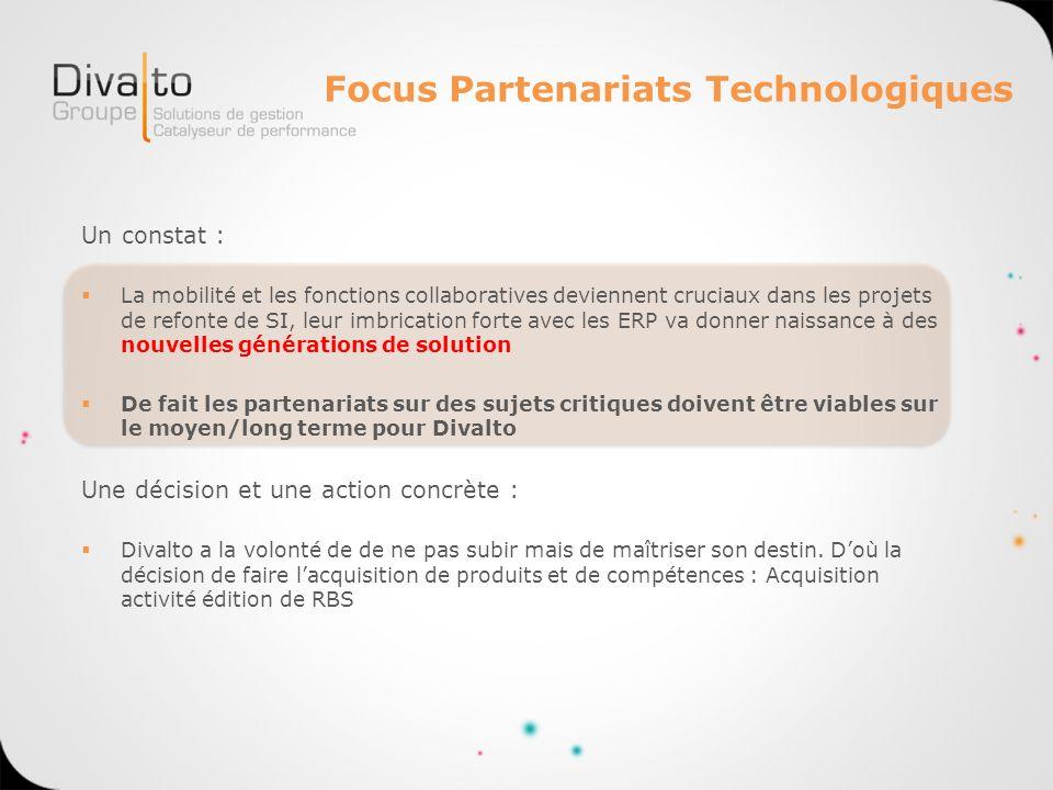 Focus Partenariats Technologiques