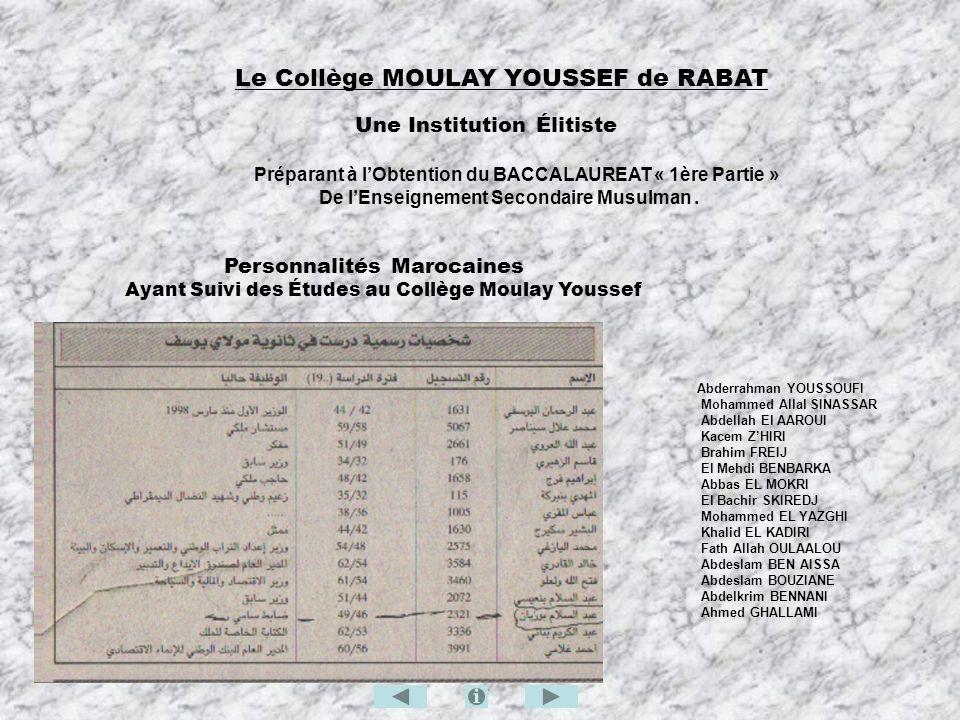 Le Collège MOULAY YOUSSEF de RABAT