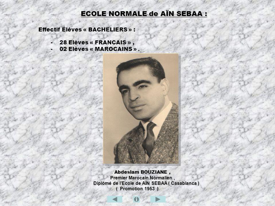 ECOLE NORMALE de AÏN SEBAA :