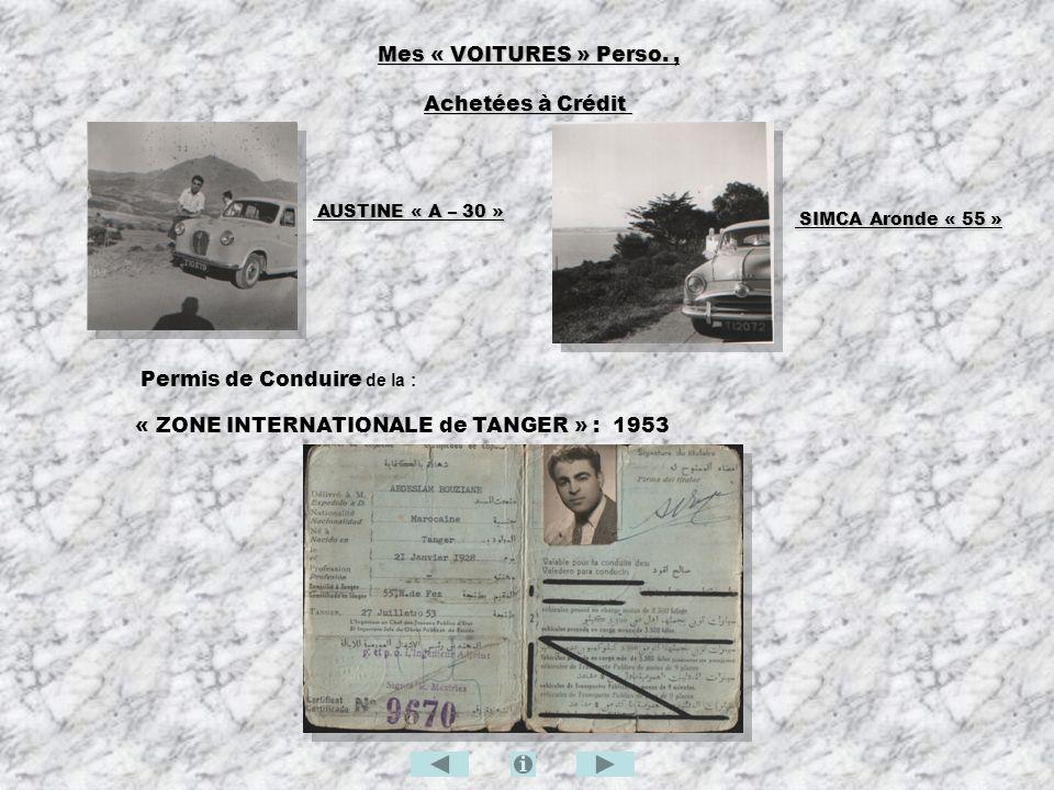 Mes « VOITURES » Perso. , Achetées à Crédit