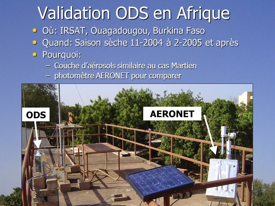 Validation ODS en Afrique