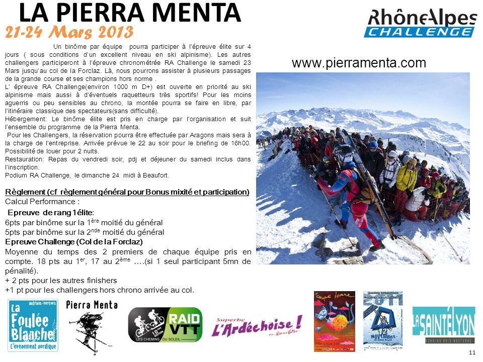 LA PIERRA MENTA 21-24 Mars 2013 www.pierramenta.com