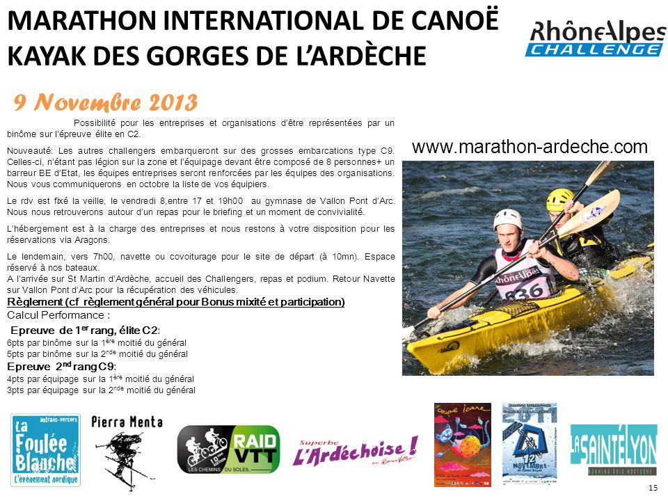 MARATHON INTERNATIONAL DE CANOË KAYAK DES GORGES DE L'ARDÈCHE