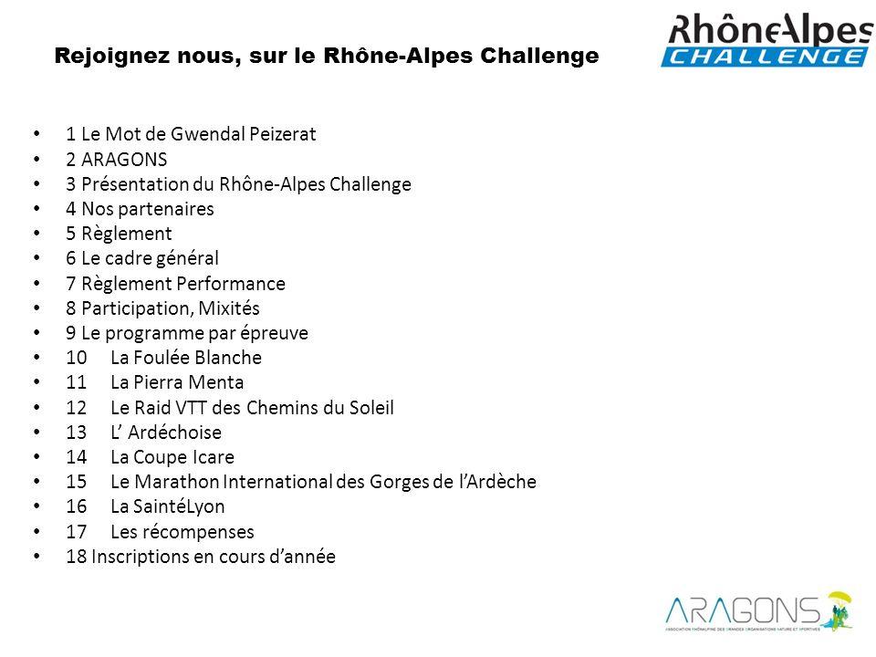 Rejoignez nous, sur le Rhône-Alpes Challenge