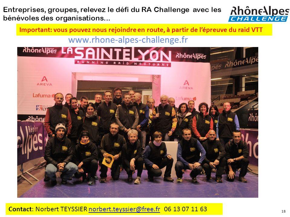 Entreprises, groupes, relevez le défi du RA Challenge avec les bénévoles des organisations...