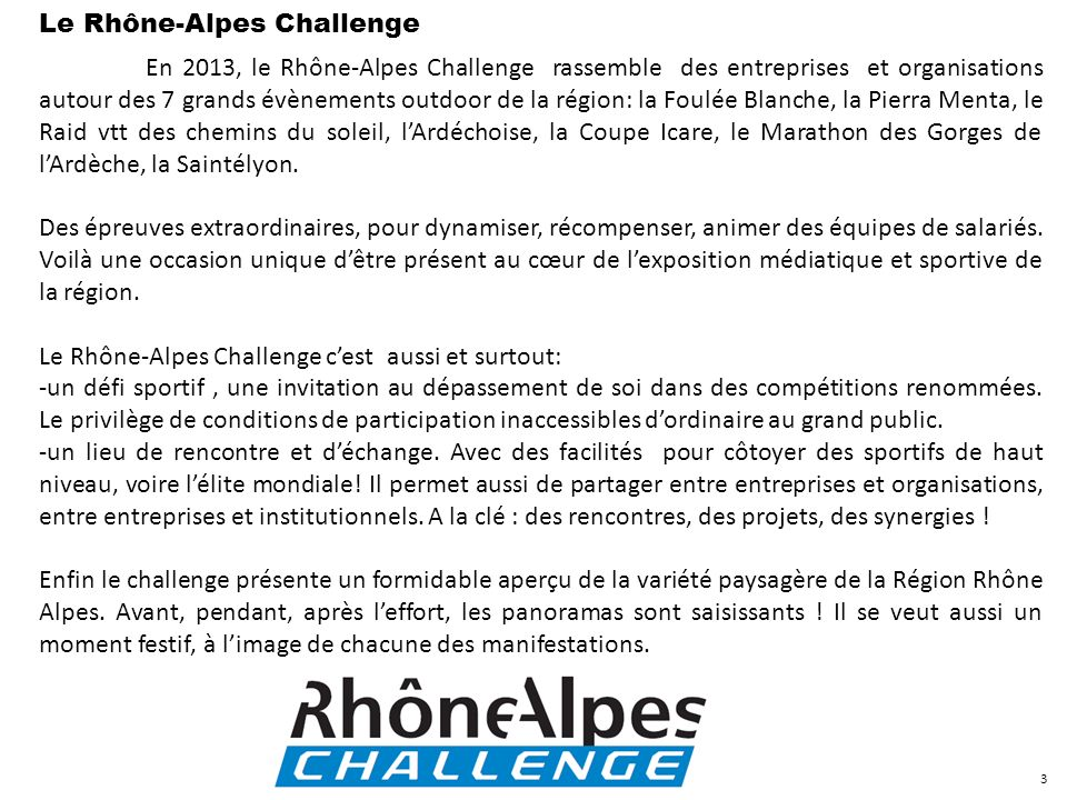 Le Rhône-Alpes Challenge