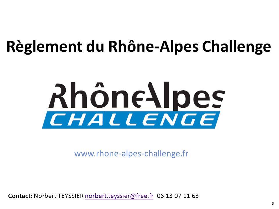 Règlement du Rhône-Alpes Challenge