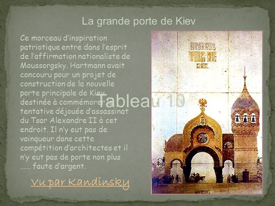 Tableau 10 Vu par Kandinsky La grande porte de Kiev