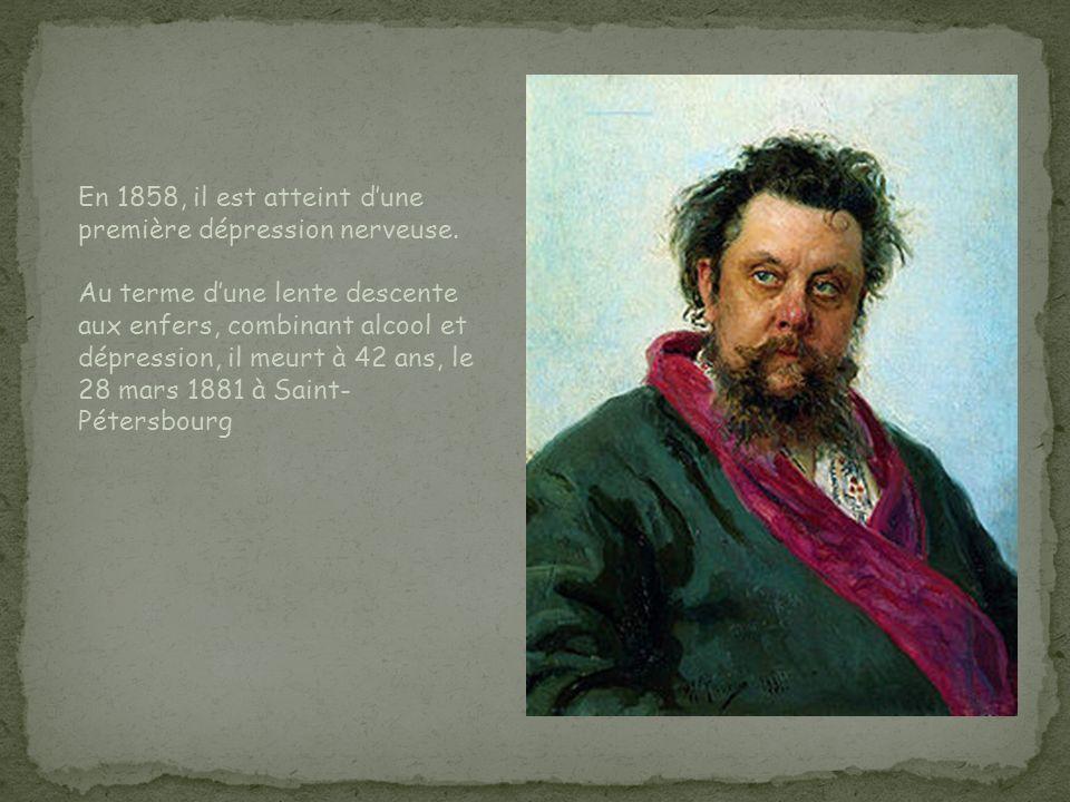 En 1858, il est atteint d'une première dépression nerveuse.