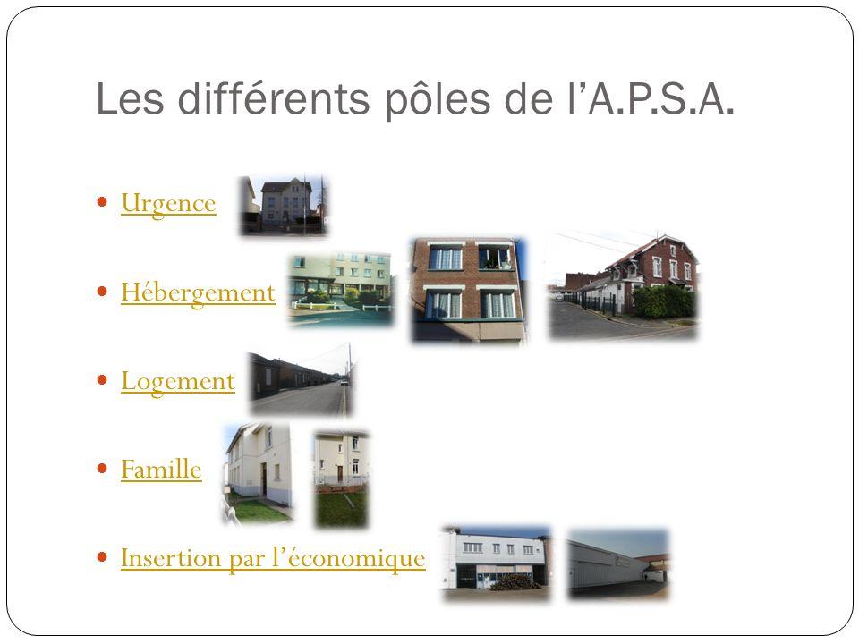 Les différents pôles de l'A.P.S.A.