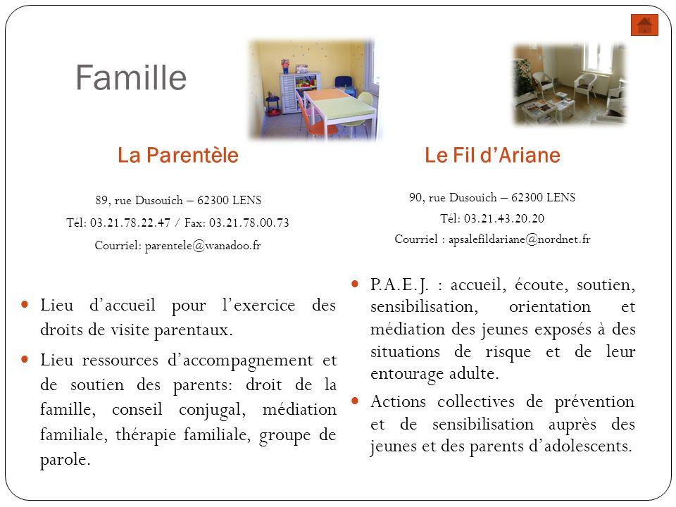 Famille La Parentèle Le Fil d'Ariane