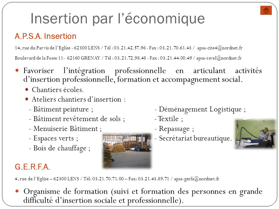 Insertion par l'économique