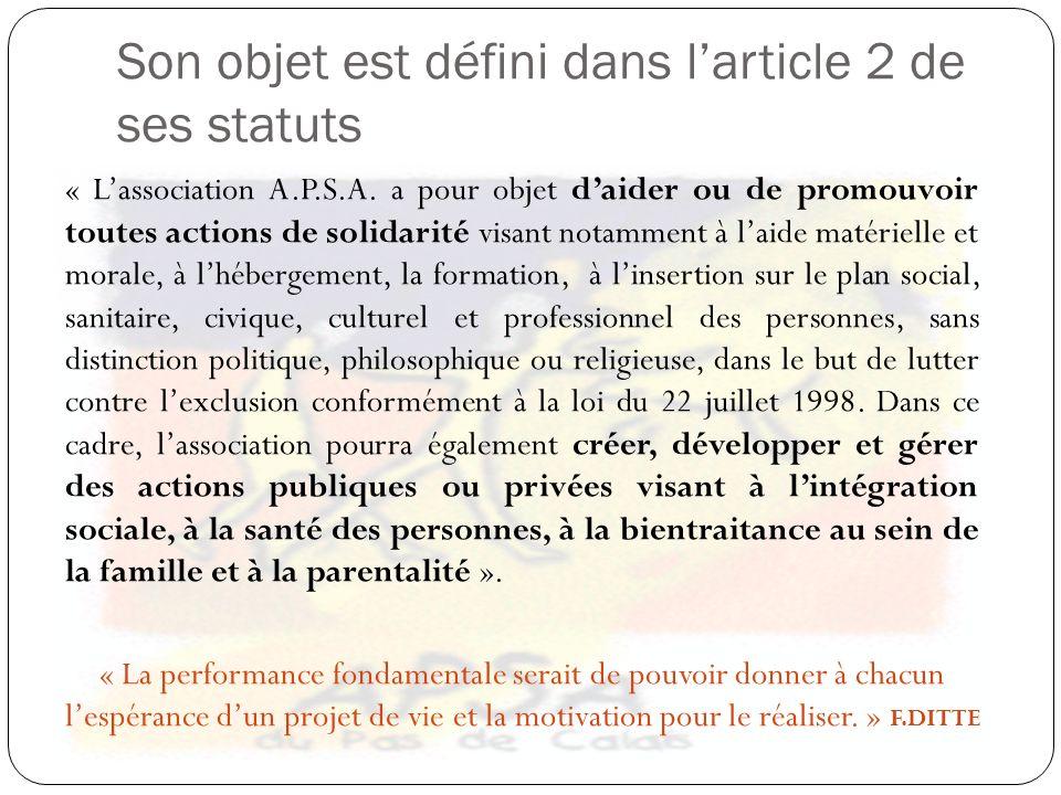 Son objet est défini dans l'article 2 de ses statuts